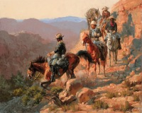 Andy-Thomas-Frederic-font-b-Remington-b-font-with-the-10th-Cavalry-oil-painting-font-b